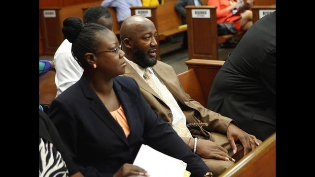 Trayvon Martin's parenst in court July 3, in Sanford, Fla.