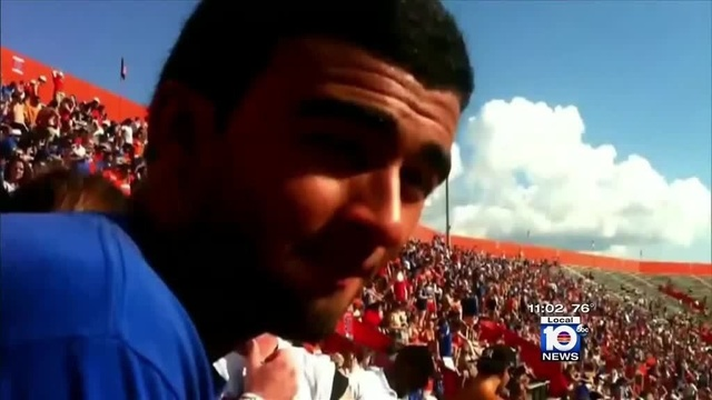 Christian Aguilar at UF game