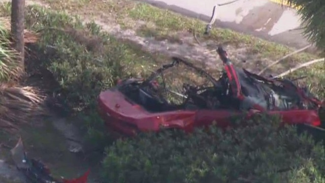 Convertible in Rickenbacker Causeway crash