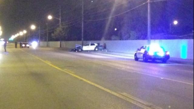 Crash scene involving BSO deputy in Lauderhill
