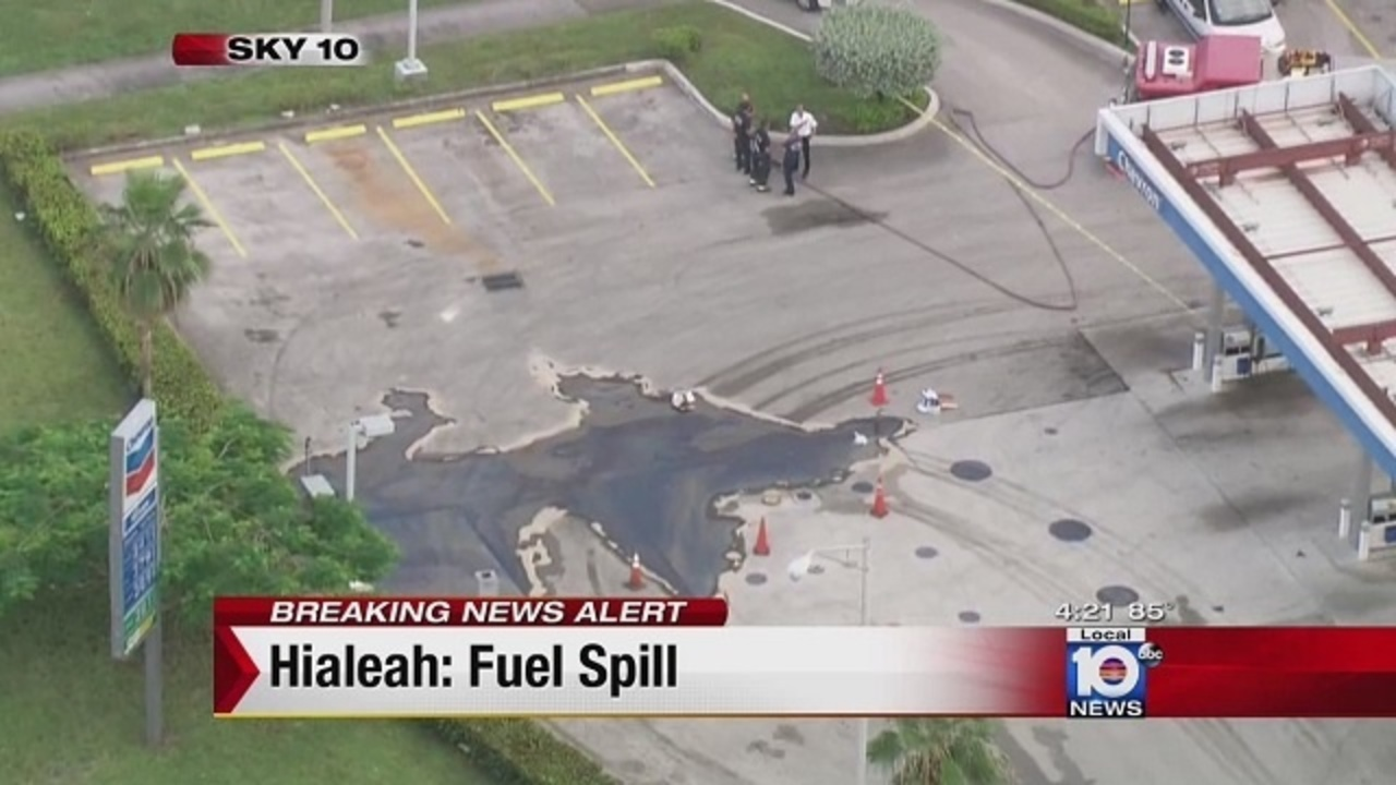 Opa Locka Junkyard >> About 150 gallons of diesel fuel spilled at Hialeah gas station