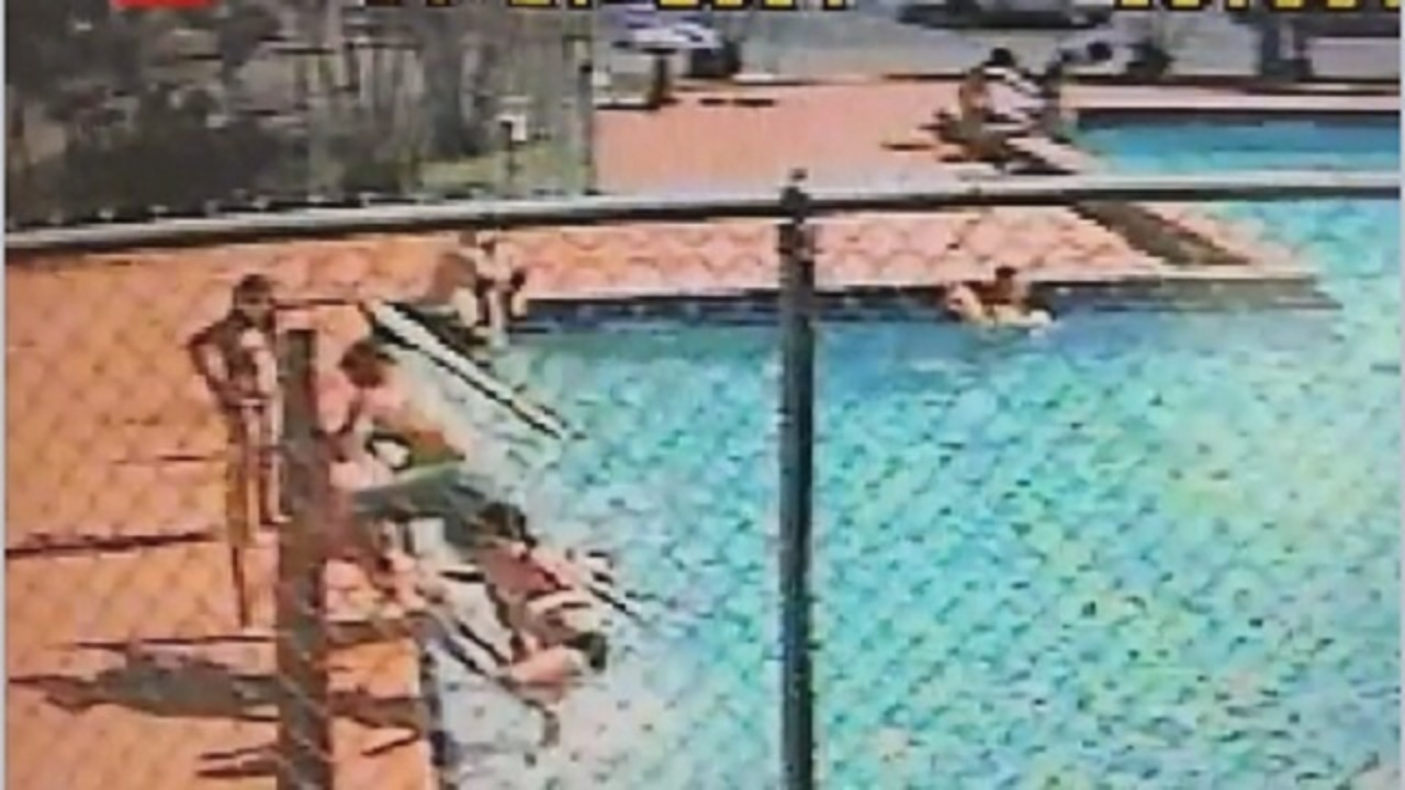 Surveillance video released shows children get shocked in for Florida pool show 2015