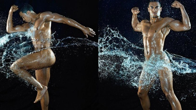 Marlins outfielder Giancarlo Stanton poses for ESPN's the Magazine's Body Issue