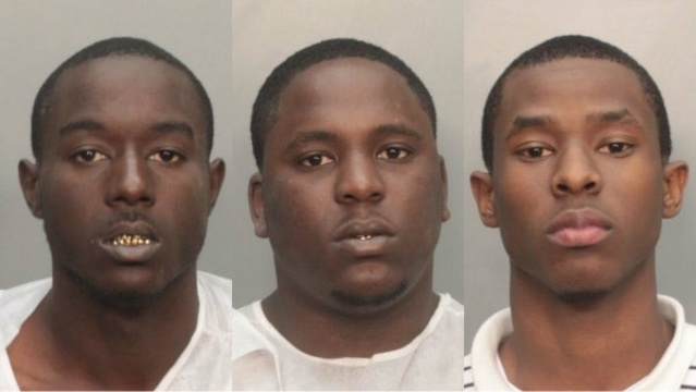 Three burglary suspects