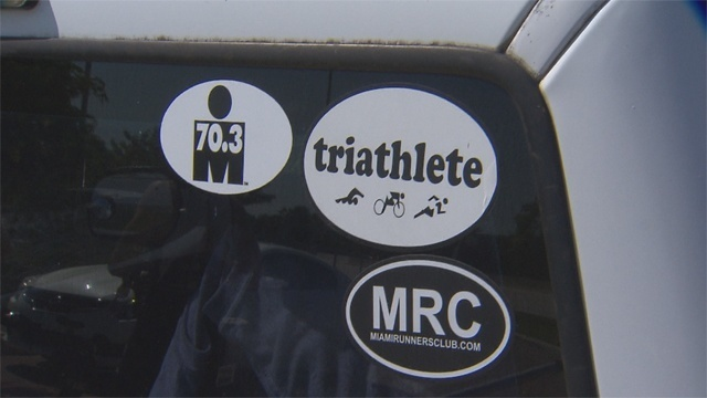 Triathletes sticker