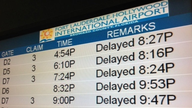 Delayed sign