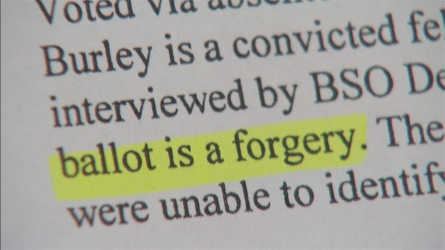 'Ballot is a forgery'