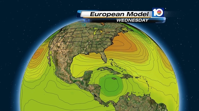 European model  valid 8 am Wednesday October 24