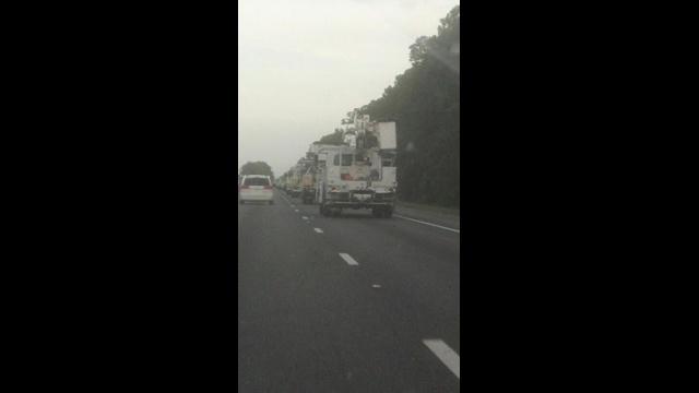 FPL trucks on I-95