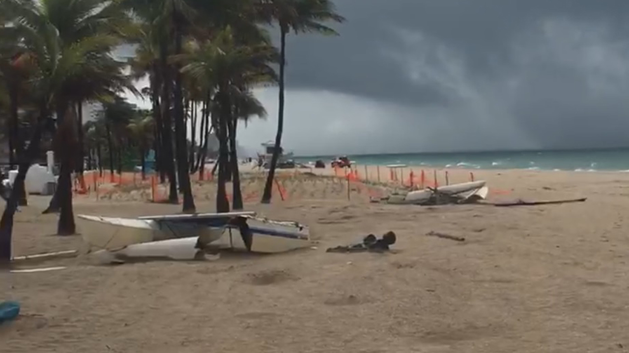Water Spout Hits Beach In Fort Lauderdale