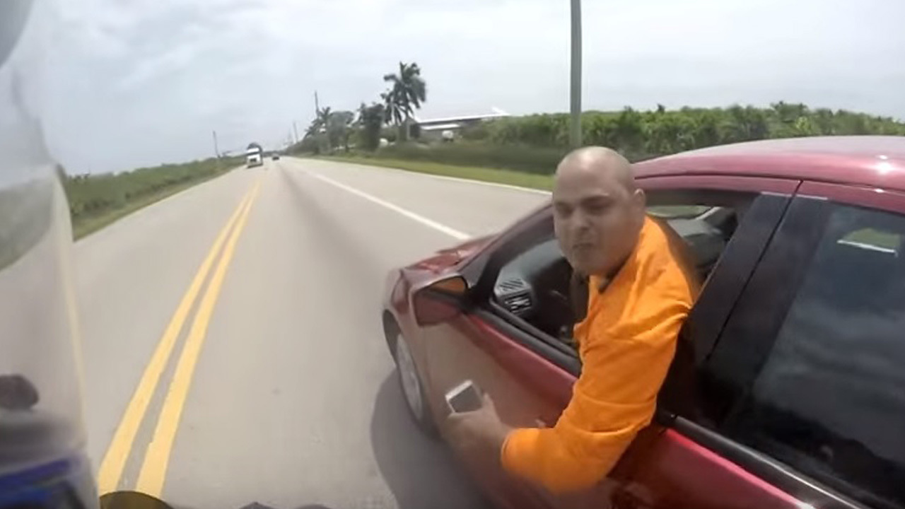 Video Motorcyclist Claims Driver Attempted To Run Him Off