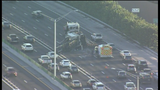 3 lanes blocked on I-95 NB at Hollywood Blvd. after crane overturns