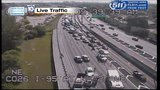 Crash closes southbound I-95 between Palmetto Expressway, Turnpike