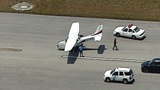 Landing gear collapses on small plane at Opa-locka Executive Airport