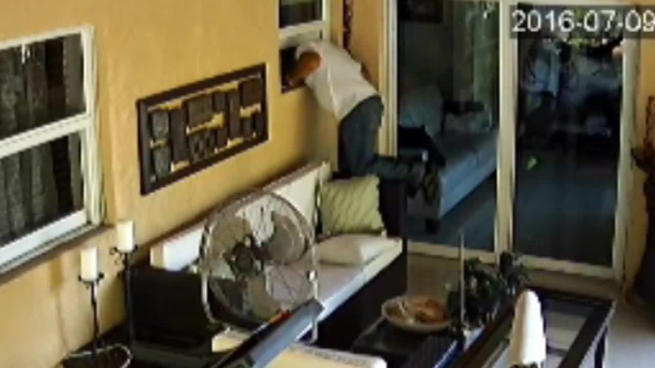 Burglar Crawls In Through Hollywood Home S Window Steals