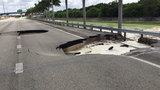 Sinkholes cause massive traffic delays