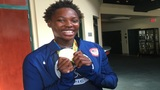 Olympic gold medalist Ashleigh Johnson visits Ransom Everglades School