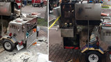 Food truck's propane tank explodes in Broward
