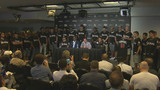 Marlins emotional, distraught during press conference