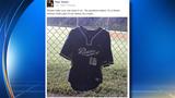 Fernandez's high school jersey stolen