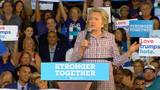 Hillary Clinton attacks Trump over beauty queen tweets at Coral Springs rally