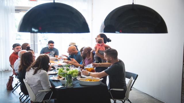 Miami Foundation dinner table