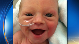 Smiling preemie photo makes the world smile