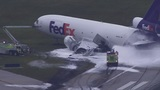 FedEx plane catches fire at Fort Lauderdale-Hollywood International Airport