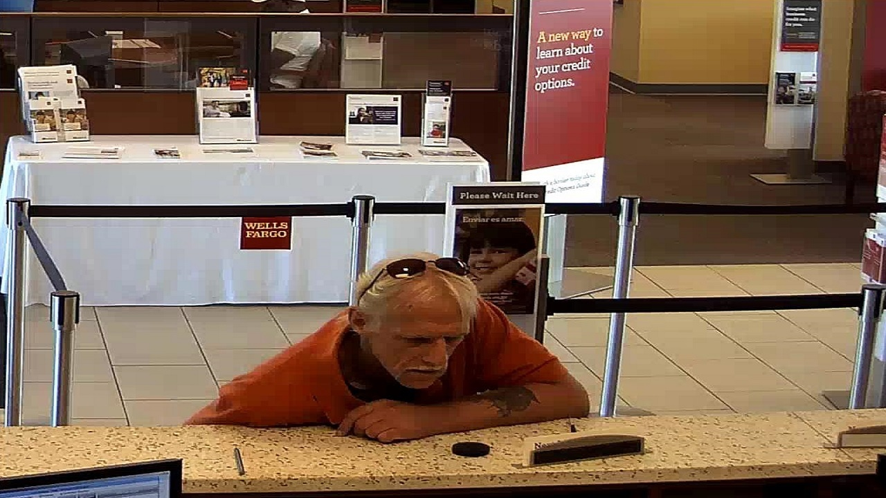 Man With Large Tattoo On Arm Robs Wells Fargo Bank Branch