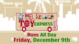 Big Bus Toy Express collects Toys for Tots donations