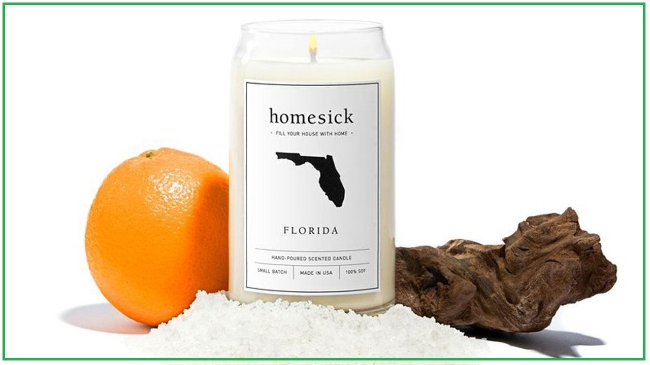 florida candle smells like sunshine state