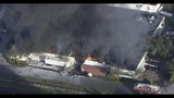 Warehouse burning in Fort Lauderdale