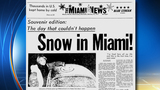 Snow in Miami 40 years ago today