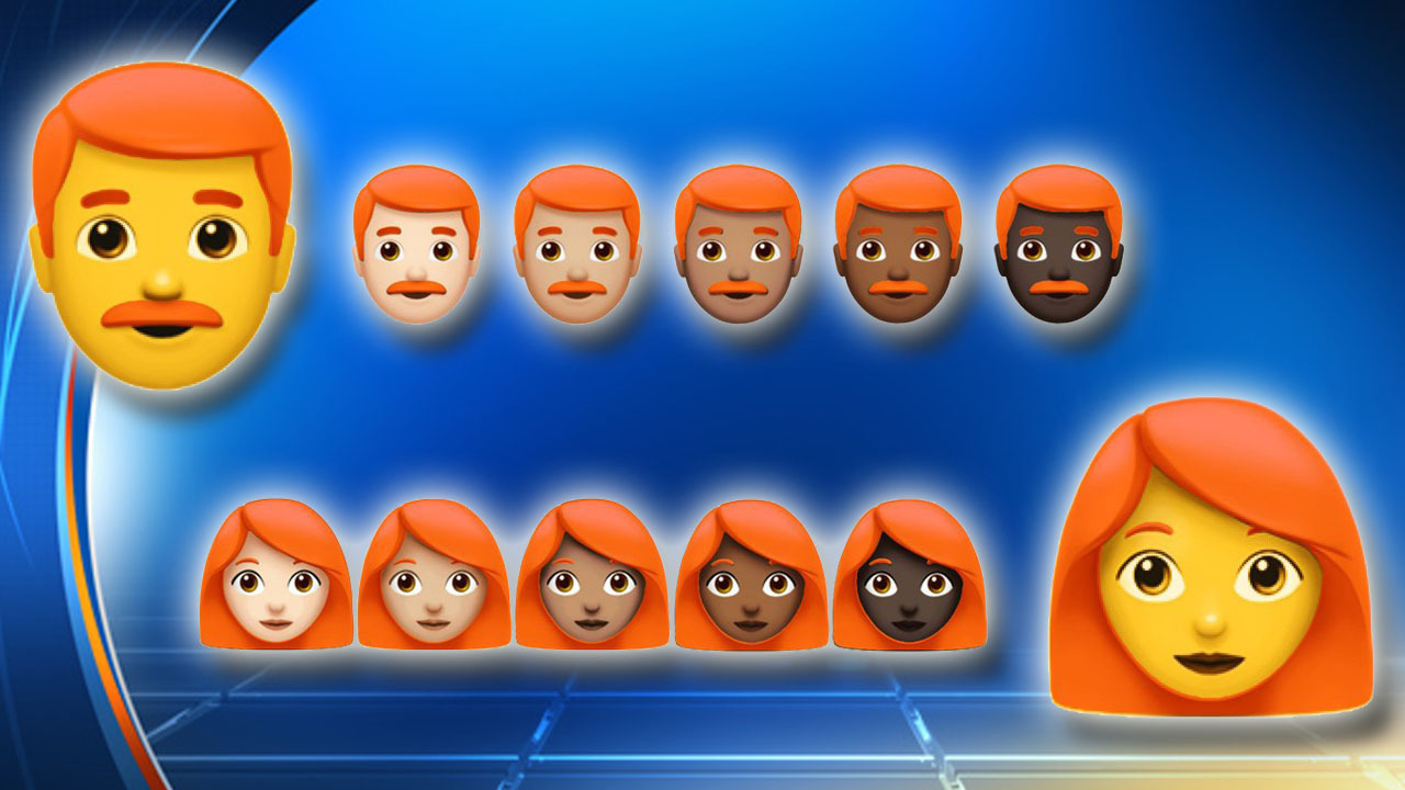 Redheads may soon get their own iPhone emoji