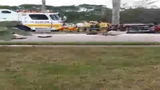 Cellphone video shows aftermath of Davie crash