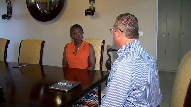 Shirley Gibson speaks to Jeff Weinsier