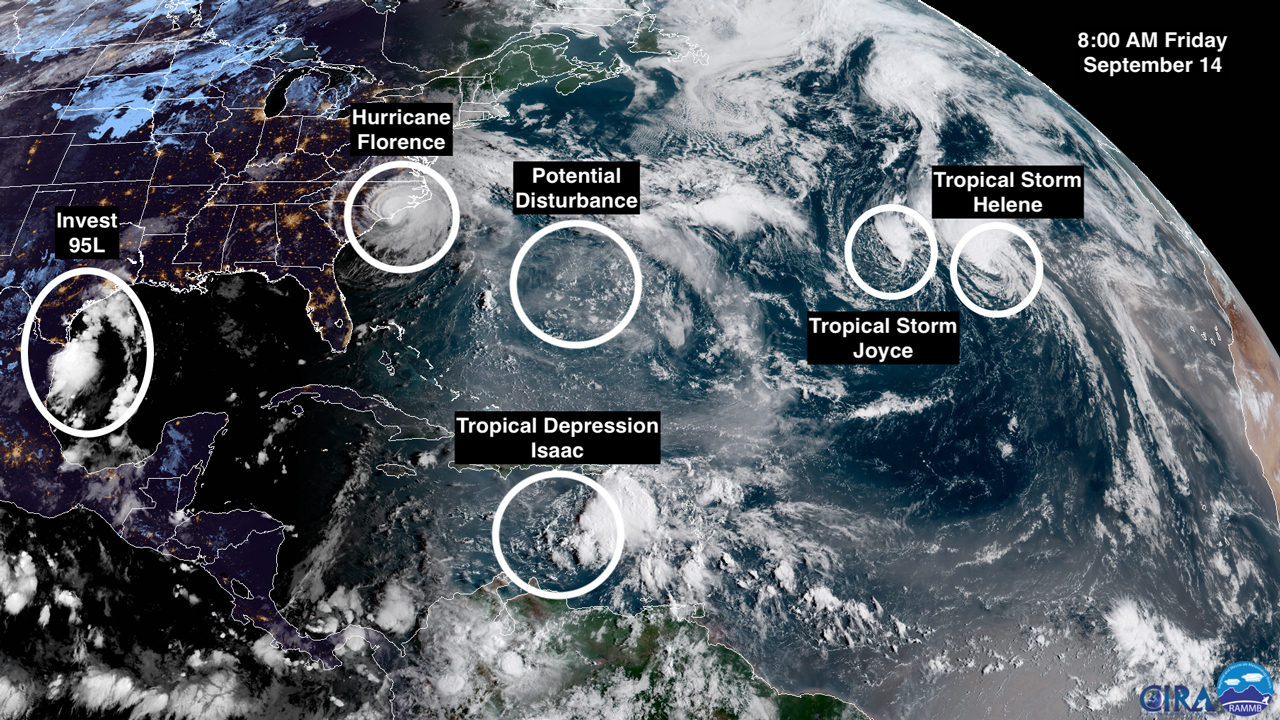 Hurricane Florence has arrived, but what about the rest of the tropics?