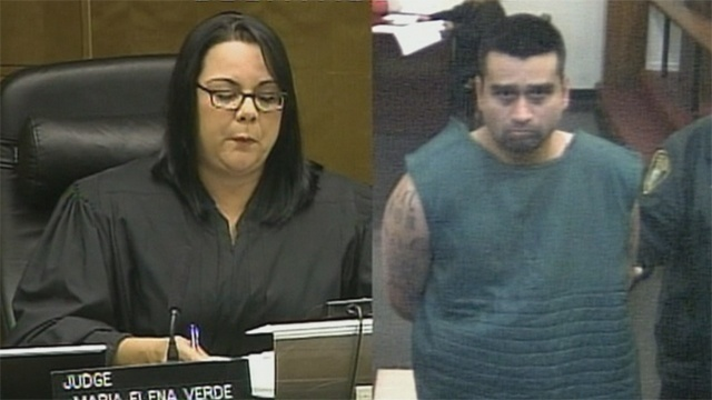 Derek Medina in court