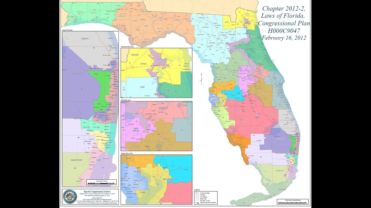 floridas congressional districts approved - HD3024×2520