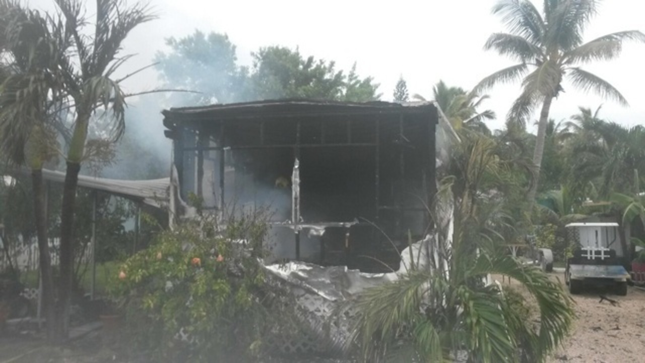 Islamorada Mobile Home Destroyed In Fire