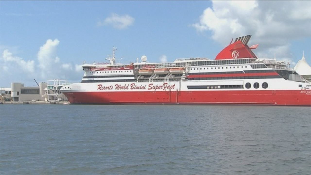 Commissioners Defend Bimini SuperFast Cruise Ship Deal - Bimini superfast cruise ship