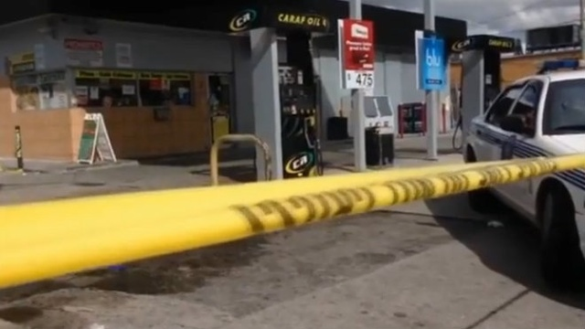 Body run over at Miami gas station