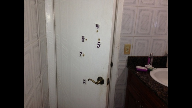Door with evidence markers_20839216