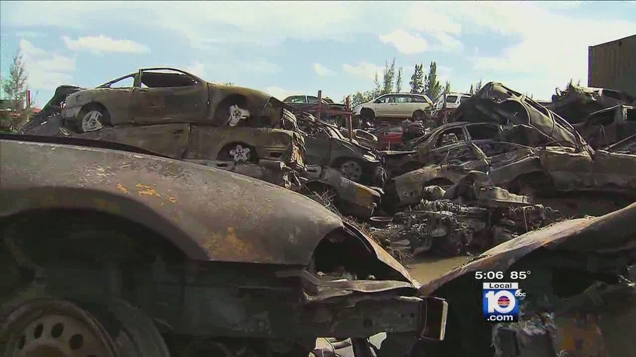 More than 100 vehicles scorched in Opa-locka junkyard fire