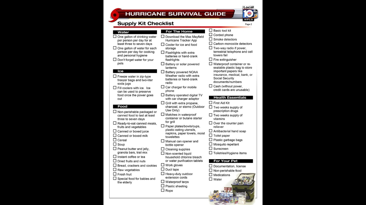 time to get out hurricane supply kit checklist