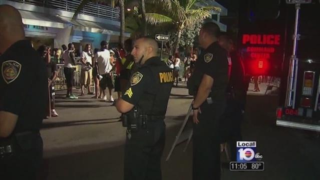 Police at Urban Beach Week