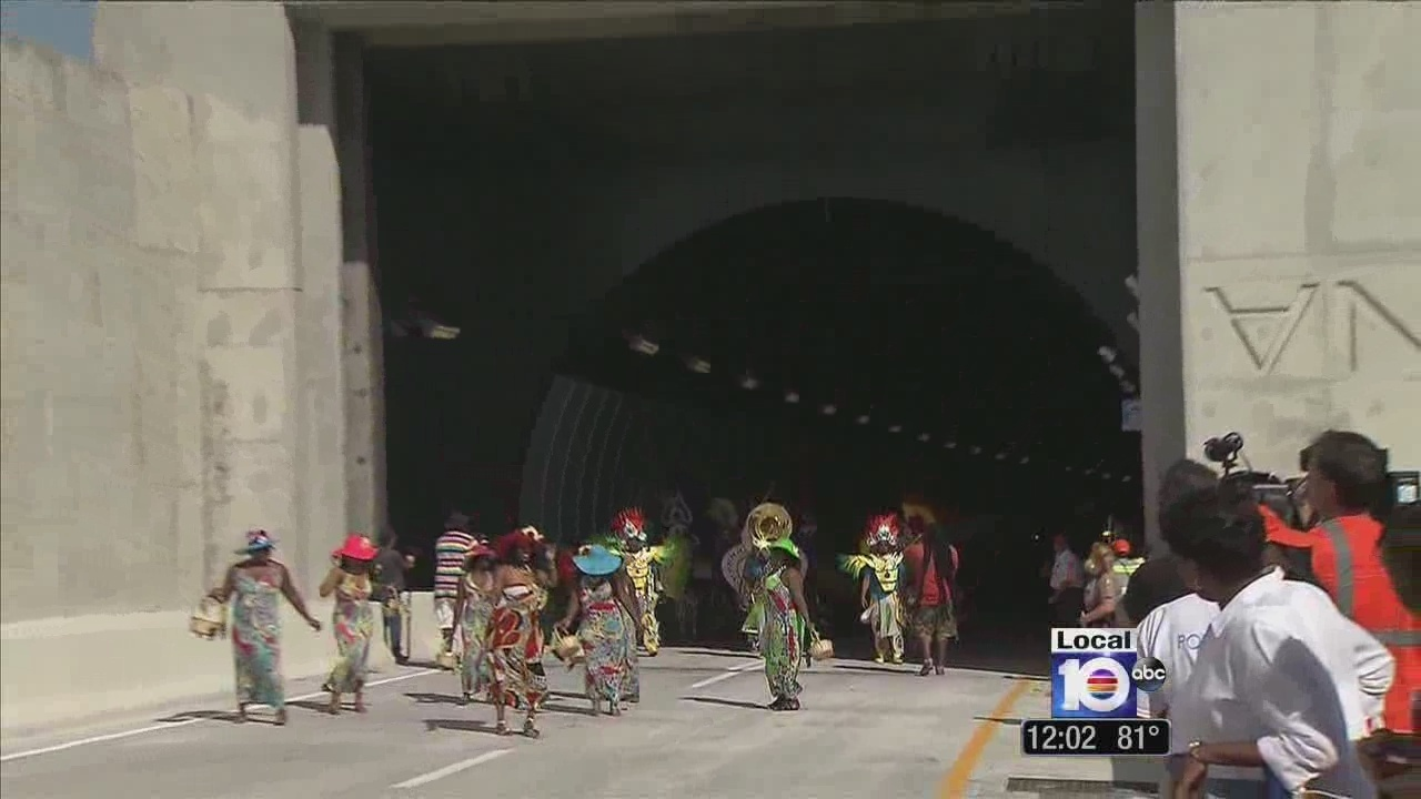 Opening ceremony held for portmiami tunnel for 720 salon celebration fl
