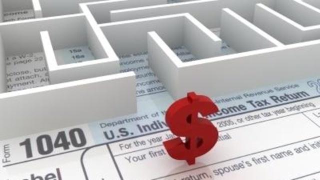 Tax maze, forms, dollar sign, taxes, money