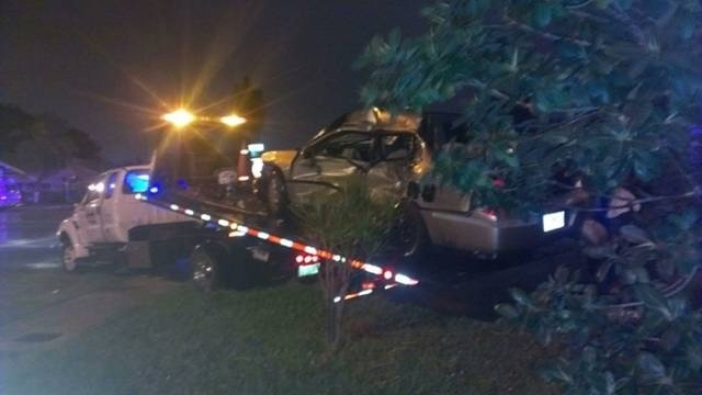 Tow truck slams into car 1