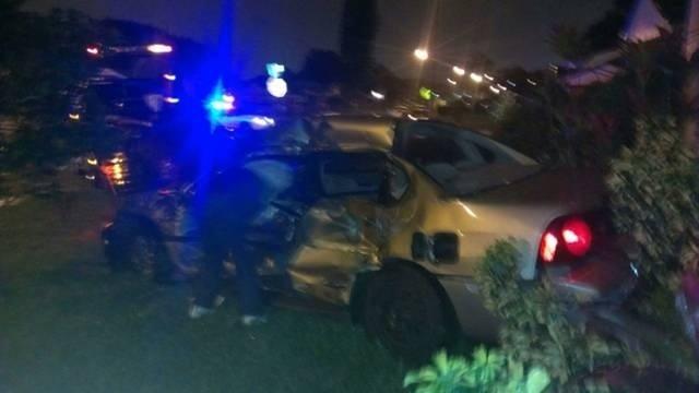 Tow truck slams into car 2